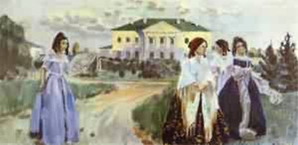 walk at sunset 1903 XX the russian museum st petersburg russia